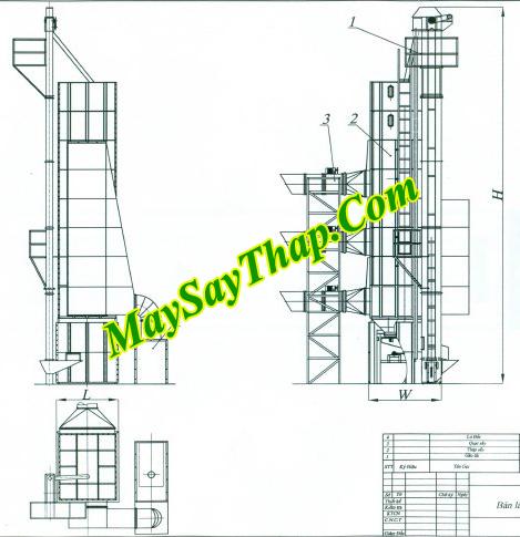 Máy sấy tháp tuần hoàn